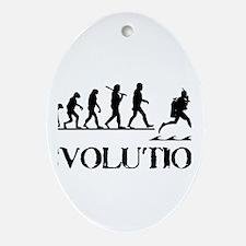 Scuba Evolution Ornament (Oval)