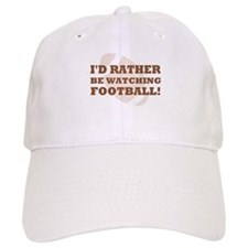 I'd rather be watching footba Baseball Cap