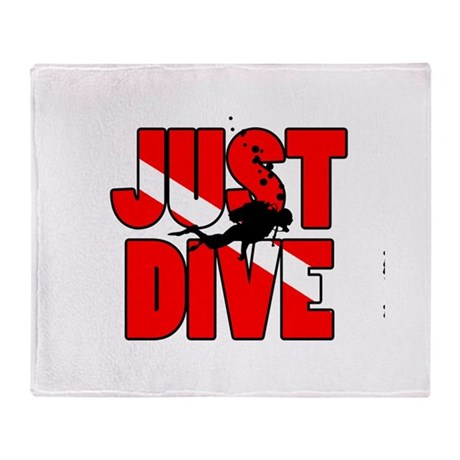 Just Dive Throw Blanket