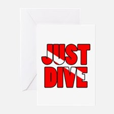 Just Dive Greeting Cards (Pk of 20)