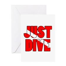 Just Dive Greeting Card
