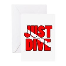 Just Dive Greeting Cards (Pk of 10)