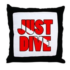 Just Dive Throw Pillow