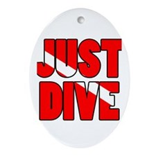 Just Dive Ornament (Oval)