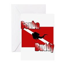 Scuba Buddy Greeting Cards (Pk of 10)