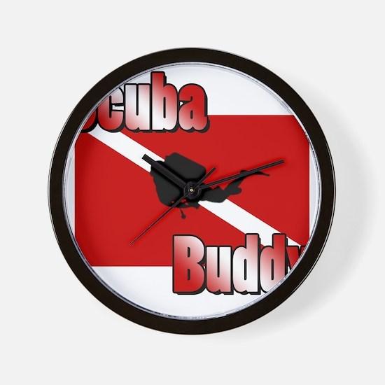 Scuba Buddy Wall Clock