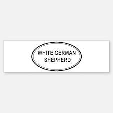 White German Shepherd Bumper Bumper Bumper Sticker
