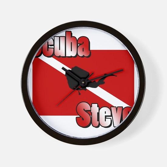 Scuba Steve Wall Clock