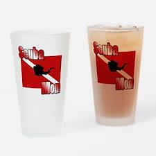 Scuba Mom Drinking Glass