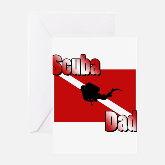 Scuba Dad Greeting Card