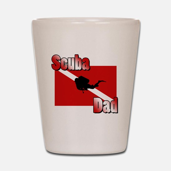 Scuba Dad Shot Glass