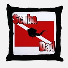Scuba Dad Throw Pillow