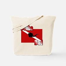 Scuba Dad Tote Bag