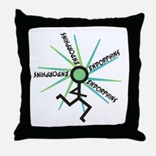 Funny Runner Endorphins Throw Pillow