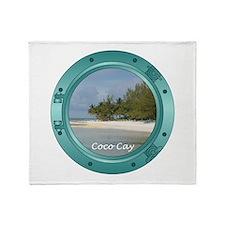 Coco Cay Porthole Throw Blanket