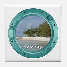 Coco Cay Porthole Tile Coaster