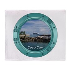Coco Cay Cruise Ship Throw Blanket