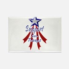 Support the Troops Rectangle Magnet