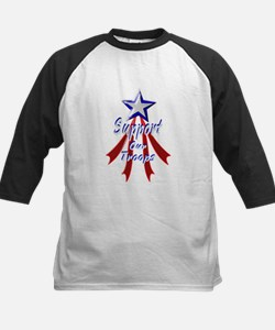 Support the Troops Kids Baseball Jersey