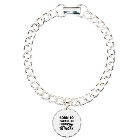 Born to Paraglide Charm Bracelet, One Charm