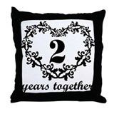 2 year anniversary Throw Pillows