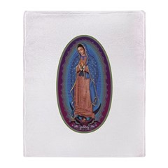 12 Lady of Guadalupe Throw Blanket