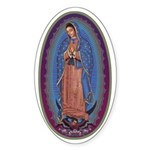 12 Lady of Guadalupe Sticker (Oval 50 pk)