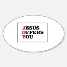 red Jesus offers you card Decal