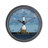 Conneaut lighthouse Wall Clocks