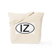 IZ - Initial Oval Tote Bag