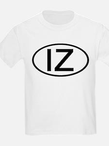 IZ - Initial Oval Kids T-Shirt