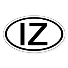 IZ - Initial Oval Oval Decal