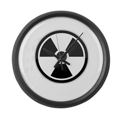 White Nuclear Logo Large Wall Clock