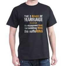 3 Rigns of Marriage T-Shirt
