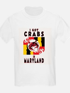 I Got Crabs in Maryland Kids T-Shirt