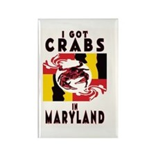 I Got Crabs in Maryland Rectangle Magnet