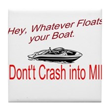 Float your Boat Tile Coaster