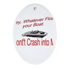 Float your Boat Ornament (Oval)