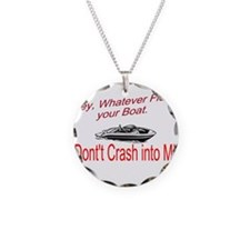 Float your Boat Necklace Circle Charm