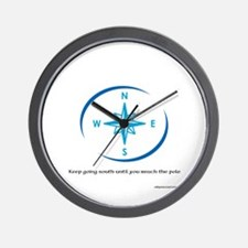 Keep going South Wall Clock