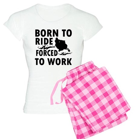 Born to Ride Snowmobile Women's Light Pajamas