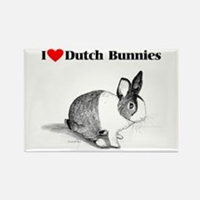 Dutch Bunny Rectangle Magnet