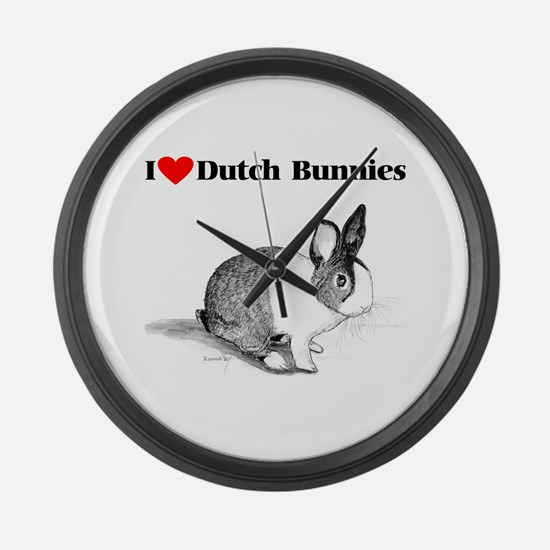 Dutch Bunny Large Wall Clock