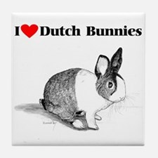 Dutch Bunny Tile Coaster