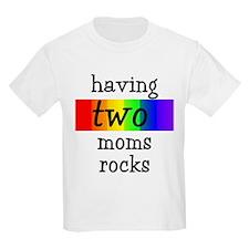 having two moms rocks Kids T-Shirt