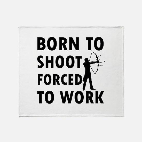 Born to Shoot Throw Blanket