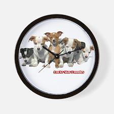 Lucky Star Puppies 2A Wall Clock