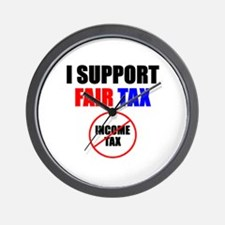 Support Fair Tax Wall Clock