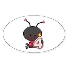 4th Birthday Ladybug Decal