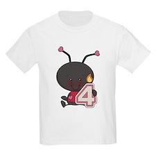4th Birthday Ladybug T-Shirt
